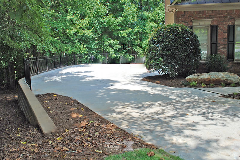 retaining walls with concrete driveways buford ga