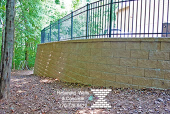 Retaining wall builders marietta ga driveways outdoor for Pre engineered outdoor fireplace