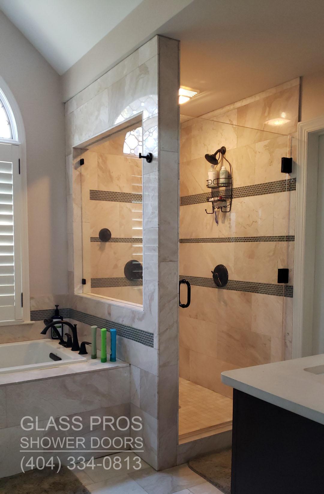 frameless shower door roswell ga. Glass Pros of Roswell Frameless and Semi Framed Shower Doors